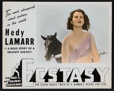 Scandals of Classic Hollywood: The Ecstasy of Hedy Lamarr - The Hairpin Golden Age Of Hollywood, Classic Hollywood, In Hollywood, Hollywood Glamour, Banners, Hedy Lamarr, Moving To Paris, Love Film, New Names
