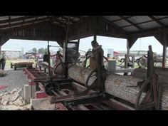 Days Gone By Tractor Show & Threshing Sawmill steam traction engine