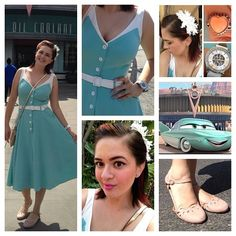 Pinup Fashion: I have this same dress! DisneyBounding is when Disney fans dress up as contemporary versions of their favorite characters. It's basically closet cosplay at its finest - prepare swoon with jealousy. Dapper Day Disneyland, Disney Dapper Day, Disney Cosplay, Disney Costumes, Dapper Day Outfits, Cute Outfits, Disneybound Outfits, Disney Themed Outfits, Casual Cosplay