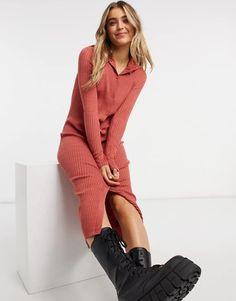 Midi Shirt Dress, Light Skin, Monki, Girly, Sexy, Cool Outfits, Beautiful Women, Long Sleeve, Casual