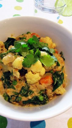 Cauliflower and Lentil Coconut Curry - Vegan & Gluten-Free #vegan #entree #recipe