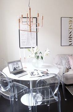 Exceptionnel Make A Small Space Feel Less Overcrowded Using Translucent Acrylic Ghost  Chairs. Barely Visible At The Back, The Acrylic Ghost Chairs Donu0027t Take Up  Much ...