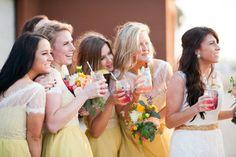 Jessica & Cody / bridesmaids wore the Sorbetto Dress from BHLDN #BHLDNbride