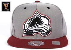 57347e67e77ed Amazon.com  Colorado Avalanche Mitchell   Ness Grey Arch Undervisor Velcro  Snapback Hat