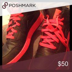 Air Jordan 1 Mid Grade School Lifestyle Shoe Air Jordan 1 Mid Grade School Lifestyle Shoe (Black/Red), Nike Shoes Sneakers