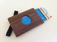 Handmade Wooden Wallet / Card Holder made from Black Walnut and Maple