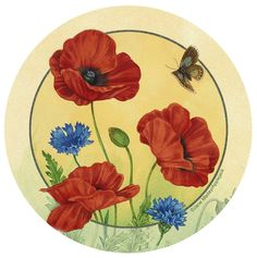 Poppies and Cornflowers Occasions Coaster