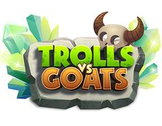 Graphic design and animation for desktop puzzle game Trolls vs Goats.