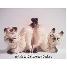 Vintage Cat Salt and Pepper set by MyUpsideDownFrown on Etsy, $7.00