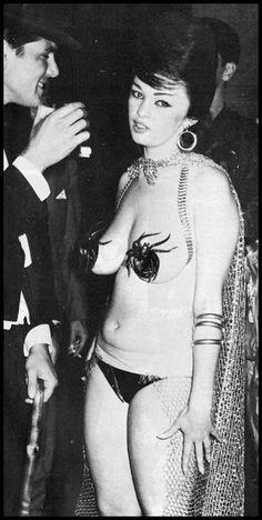mysterygirlvintage:  Bonnie Logan at the '61 Artists and Models Ball Sir Knight vol. 2 no. 11; 1961