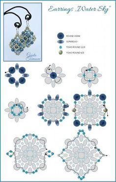 Water Sky Earrings | Bead-Patterns