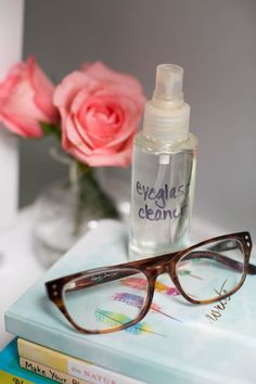 How to: Make Your Own Eyeglass Cleaner | http://hellonatural.co/how-to-make-your-own-eyeglass-cleaner/