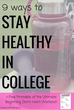 Afraid of the freshman 15?Not sure how to eat healthy in the dining halls when all you see is burgers? Staying healthy in college isn't as hard as you think! Here's 9 tips on how to stay at your top shape when you head to university. dorm room workout, healthy in college, stay healthy in college, how to get healthy in college, how to avoid the freshman 15, how to eat healthy in college