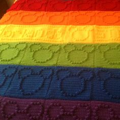 Crochet Afghans Ideas Bobble Stitch Chart - Mickey Mouse (Free Pattern) - Bobble Stitch Chart - Mickey MouseThis crochet pattern / tutorial is available for free. Crochet Afghans, Bobble Stitch Crochet, Afghan Crochet Patterns, Crochet Blankets, Crochet Stitches, Disney Crochet Patterns, Crochet Disney, Baby Girl Crochet Blanket, Crochet Baby