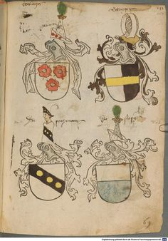 Tirol, Anton: Wappenbuch Süddeutschland, Ende 15. Jh. - 1540 Cod.icon. 310  Folio 117r
