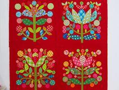 interesting interpretation of Kim McLean's Lollipop Trees pattern Tree Patterns, Applique Patterns, Applique Quilts, Applique Designs, Quilt Patterns, Block Patterns, Quilting Tutorials, Quilting Designs, Lollipop Tree