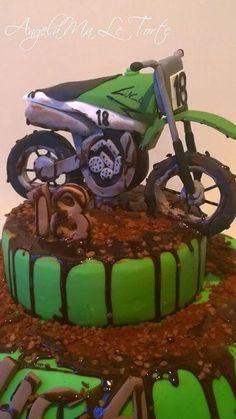 motocross cake - Cake by AngelaMa Le Torte