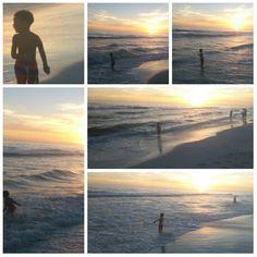 Beach at dusk & kade