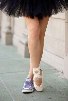 Jigsawphotography - converse and black tutu. #ballet #urbanballet #graffiti #blacktutu #pointe #converse #converseballet #balletshoes #ballerinainthecity