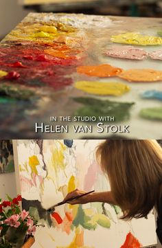 South African artist Helen van Stolk shares her studio with us in an interview and short film.