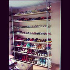 Fantastisch schoenenrek - want!