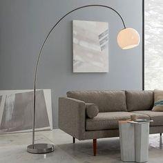 West Elm Overarching Acrylic Shade Floor Lamp