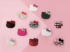 HELLO KITTY PALETTES & MIRRORS These fun, inspiring themes and graphics were designed to have fun with Hello Kitty. Palettes include eyeshadows & blushes while the charming mirrors reflect the cuteness of Kitty consumer.