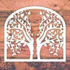Laser cut tree template. Online vector design download free patterns every day.