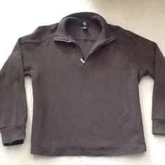 Brown pullover sweater Gently used but in excellent condition. Has half zipper in front. Make offer, no trades! Calvin Klein Sweaters