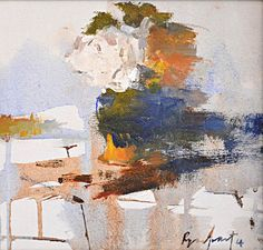 The white rose South African Art, White Roses, Figurative, Abstract, Gallery, Artist, Artwork, Painting, Summary