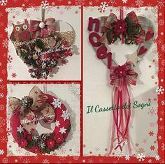 Decorazioni di Natale ..fatto a mano     con amore. .. https://www.facebook.com/Il-Cassetto-dei-Sogni-1890162974542736/