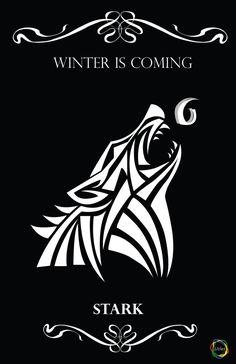 House Stark, Game Of Thrones fan art. by rainbowdelic
