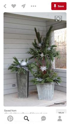 Home Decor Flower on Home Decor Arrangements Home Decorating With Flowers Christmas (planters for front porch landscaping ideas) Christmas Urns, Outdoor Christmas Decorations, Country Christmas, Winter Christmas, Christmas Home, Christmas Crafts, Christmas Flowers, Outdoor Christmas Planters, Christmas Greenery
