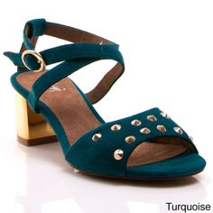 Nvy Women's 'Dream' Retro Studded Open-toe Heels