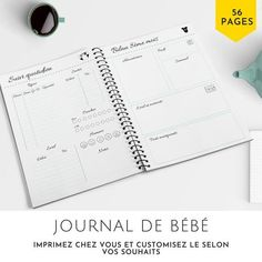 Notebook, Document, Boutique Etsy, Organiser, Points, Printable, France, Happy, Lily