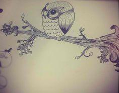 Tattoo idea #owl #doodle #drawing