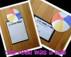 Ive Had a Ball! {Writing & Craftivity for the End of the Year}
