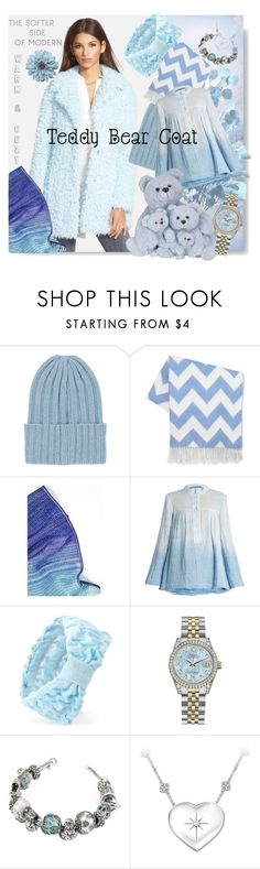 """""""The Softer Side of Modern💙"""" by tmcintyre ❤ liked on Polyvore featuring The Elder Statesman, Jonathan Adler, Missoni, Raquel Allegra, Forever 21, Rolex, Tedora, The Bradford Exchange, modern and teddybearcoats"""