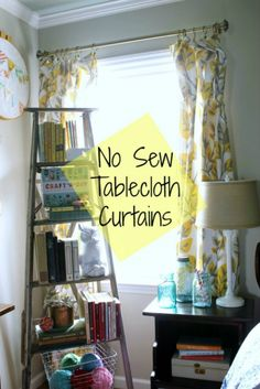 Making curtains out of tablecloths