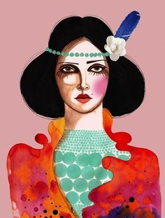 'Oh Carmen' print. I like this style. Might be good inspiration for my children's book