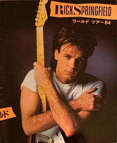 Rick Springfield: World Tour '84 the first time I saw him in concert. I was 13