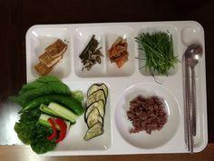 7/2 저녁식단 현미밥,채소쌈,두부조림,부추샐러드,가지구이
