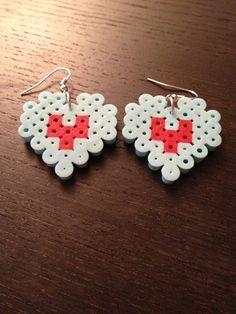 Zelda  Heart Container Earrings Perler Beads by SongbirdBeauty, $4.00