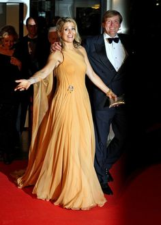 Princess Maxima of The Netherlands celebrates her 40th birthday at the Concertgebouw in the company of many royal friends.