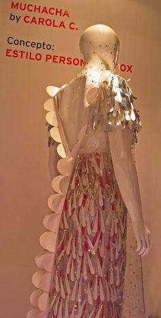 Carola Cantini   Virginia Slims Design Contest Baf Week 2012 Paper and Plastic Dress http://carolacantini.tumblr.com/