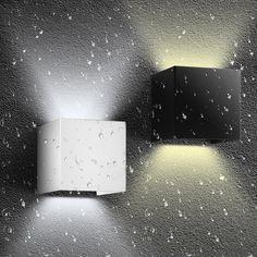 Waterproof Outdoor Wall Light Led Black Up Down Lights Bathroom Lamp Modern Lighting Garden 3 color Led Wall Lamp, Ceiling Lamps, Led Outdoor Wall Lights, Sconce Lighting, Modern Lighting, Sconces, Luxury Designer, Cube, Decorative Lamps