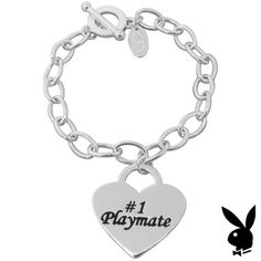 Heart-Tag-Toggle-Bracelet-Please-Return-To-Playboy-Mansion-Charm-1-Playmate-HTF