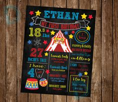 Hey, I found this really awesome Etsy listing at https://www.etsy.com/listing/277027654/circus-birthday-party-circus-chalkboard
