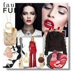 """Faux Fur!!"" by stylediva20 ❤ liked on Polyvore featuring Tabula Rasa, Giambattista Valli, Kate Spade, Michael Kors, Oscar de la Renta, Bronzallure and Gabriela Artigas"