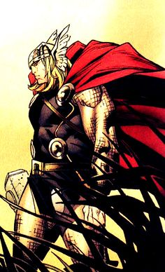 Thor by Olivier Coipel Marvel Comic Universe, Comics Universe, Marvel Dc Comics, Marvel Heroes, Odin And Thor, The Mighty Thor, Loki Thor, Asgard Marvel, Female Thor